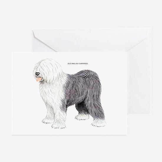 Old English Sheepdog Dog Greeting Cards (Pk of 20)