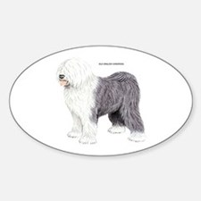 Old English Sheepdog Dog Sticker (Oval)