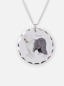 Old English Sheepdog Dog Necklace