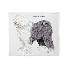 Old English Sheepdog Dog Throw Blanket