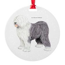 Old English Sheepdog Dog Ornament