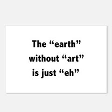 The earth without art is just eh Postcards (Packag