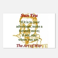 If It Is To Your Advantage - Sun Tzu Postcards (Pa