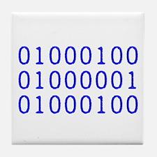 DAD in Binary Code Tile Coaster