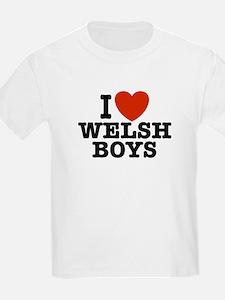 I Love Welsh Boys Kids T-Shirt