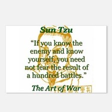 If You Know The Enemy - Sun Tzu Postcards (Package