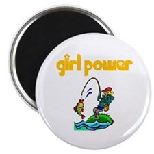 Girl Power Fishing Magnet