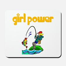 Girl Power Fishing Mousepad
