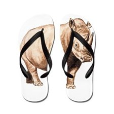 Rhino Rhinoceros Animal Flip Flops