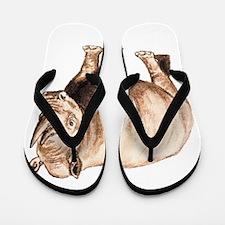 Rhino Rhinoceros Animal Flip Flops