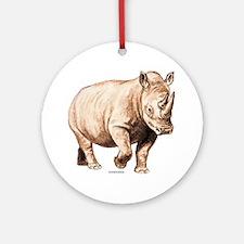 Rhino Rhinoceros Animal Ornament (Round)