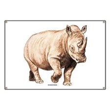 Rhino Rhinoceros Animal Banner