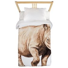 Rhino Rhinoceros Animal Twin Duvet