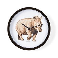 Rhino Rhinoceros Animal Wall Clock