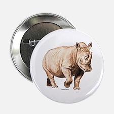 """Rhino Rhinoceros Animal 2.25"""" Button"""