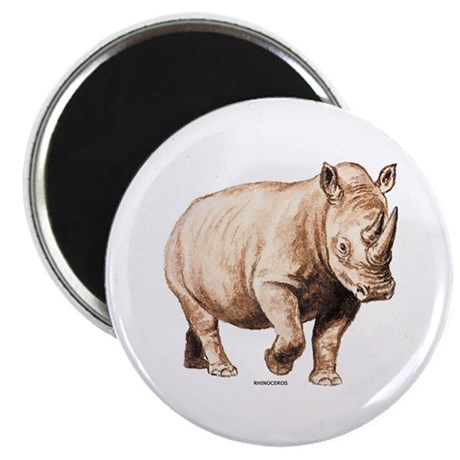 "Rhino Rhinoceros Animal 2.25"" Magnet (100 pack)"