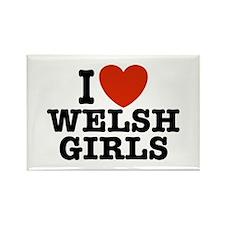 I Love Welsh Girls Rectangle Magnet