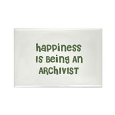 Happiness Is Being An ARCHIVI Rectangle Magnet
