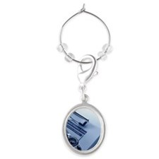 Medical History Oval Wine Charm
