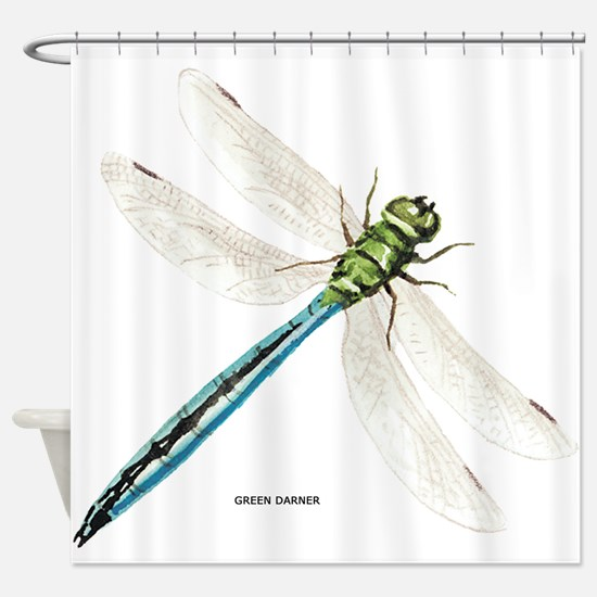 Green Darner Insect Shower Curtain