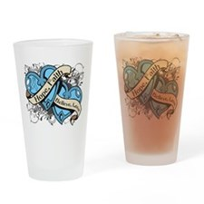 Graves Disease Hope Dual Heart Drinking Glass