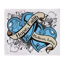 Graves Disease Hope Dual Heart Throw Blanket