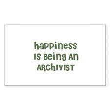 Happiness Is Being An ARCHIVI Sticker (Rectangular