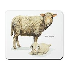 Sheep and Lamb Animal Mousepad