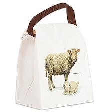 Sheep and Lamb Animal Canvas Lunch Bag