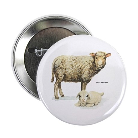 "Sheep and Lamb Animal 2.25"" Button (100 pack)"