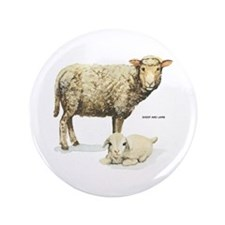 "Sheep and Lamb Animal 3.5"" Button (100 pack)"
