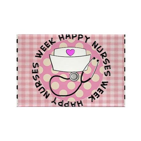 happy nurses week card pink Rectangle Magnet