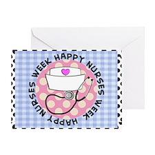 happy nurses week card blue Greeting Card