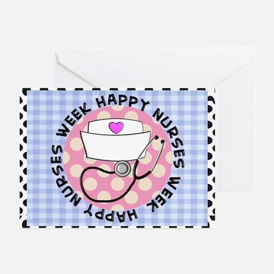 happy nurses week card blue Greeting Cards (Pk of