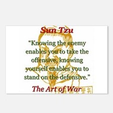Knowing The Enemy Enables You - Sun Tzu Postcards