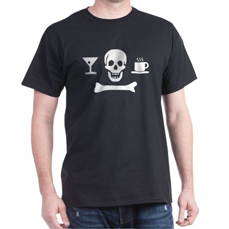 Beverage Jolly Roger Tee: Choose your color, matey