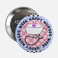 "happy nurses week card blue 2.25"" Button"