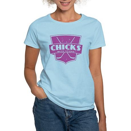 Hockey Chicks With Sticks T-Shirt