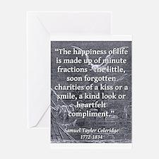 The Happiness Of Life - Coleridge Greeting Card