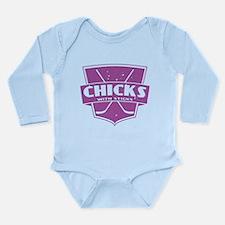 Hockey Chicks With Sticks Body Suit