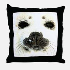 harp seal 1 Throw Pillow