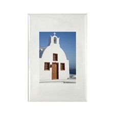 Church with mountains  Rectangle Magnet (100 pack)