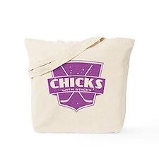 Hockey Chicks With Sticks Tote Bag