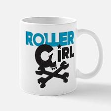Rollergirl Skull Logo Blue Mug
