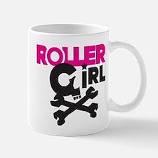 Rollergirl Skull Logo Pink Mug