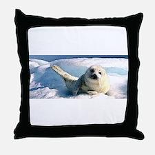 harp seal 2 Throw Pillow