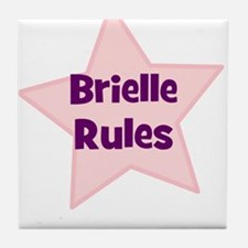 Brielle Rules Tile Coaster