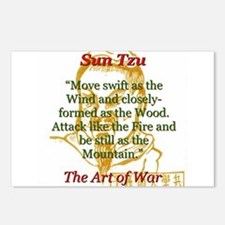 Move Swift As The Wind - Sun Tzu Postcards (Packag