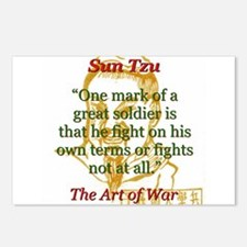One Mark Of A Great Soldier - Sun Tzu Postcards (P