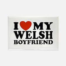 I Love My Welsh Boyfriend Rectangle Magnet